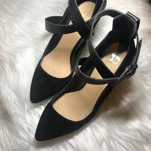 Joe's Suede Black Ankle Strap Heels!